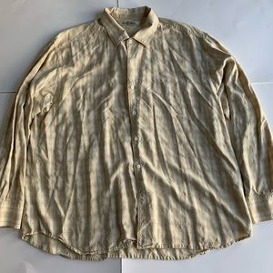 Tommy Bahama 100%Silk Casual Long Sleeve Button Up